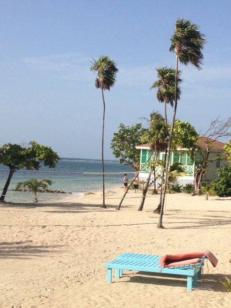 Our cabana on Turneffe Caye, Belize.