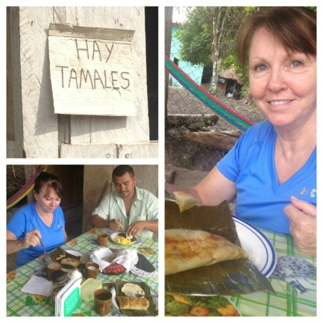 Another stop for tamales.  This was actually the home of our driver and his family.  The food was delicious!