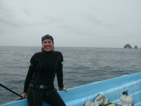Me hanging out after a dive.  London Bridge in the background.